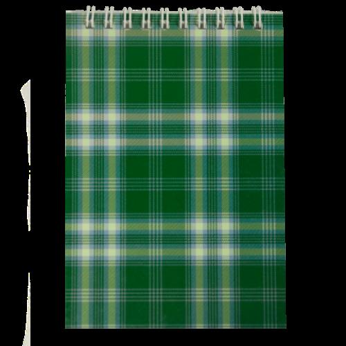 Блокнот на пружине сверху SHOTLANDKA, А6, 48 листов, клетка, зеленый