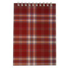 Блокнот на пружине сверху SHOTLANDKA, А6, 48 листов, клетка, бордовый