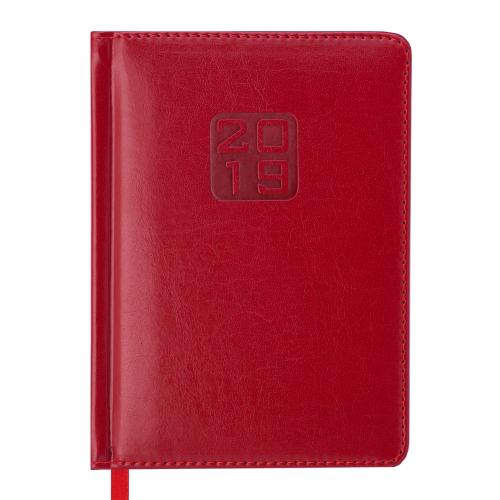 Ежедневник датированный 2019 BRAVO (Soft), A6, красный