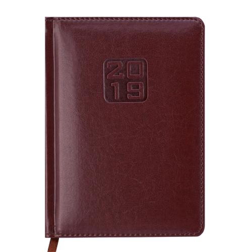Ежедневник датированный 2019 BRAVO (Soft), A6, коричневый