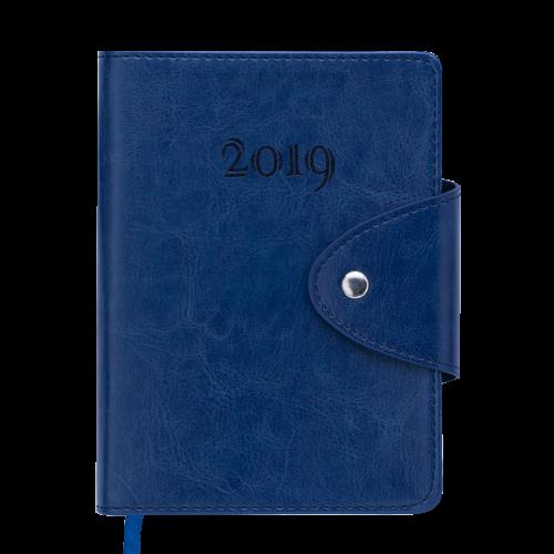 Ежедневник датированный 2019 BUSINESS, A6, синий
