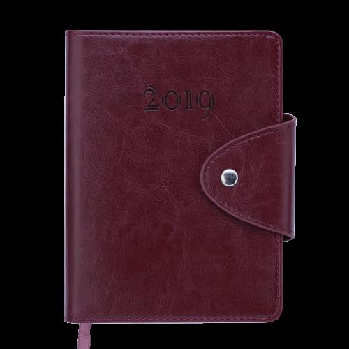Ежедневник датированный 2019 BUSINESS, A6, бордовый