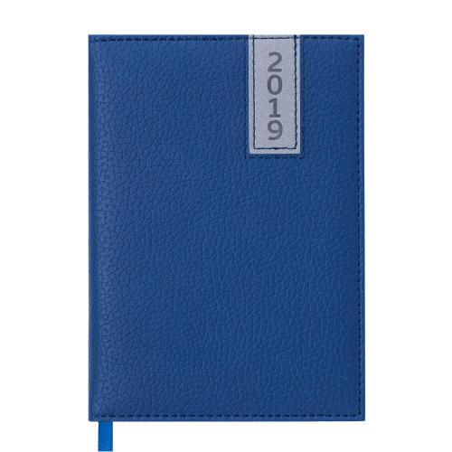Ежедневник датированный 2019 VERTICAL, A6, 336 стр., синий