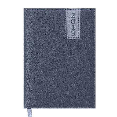 Ежедневник датированный 2019 VERTICAL, A6, 336 стр., серый