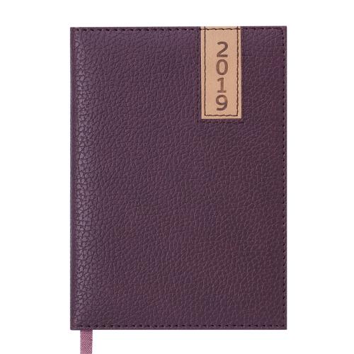 Ежедневник датированный 2019 VERTICAL, A6, 336 стр., коричневый