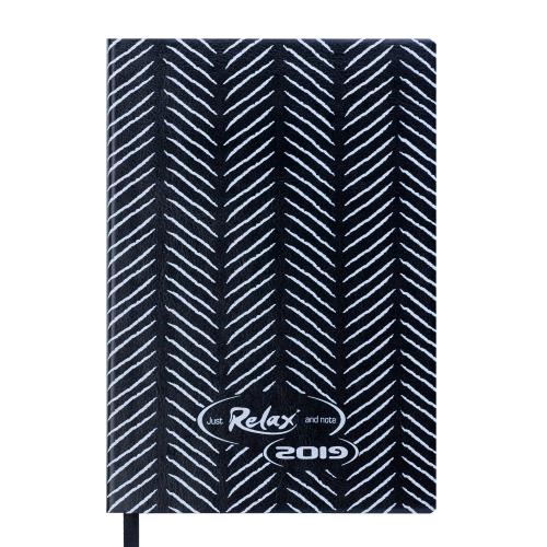 Ежедневник датированный 2019 RELAX, A6, 336 стр., черный