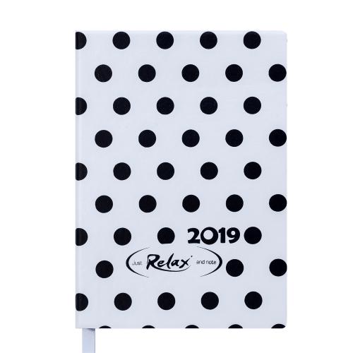 Ежедневник датированный 2019 RELAX, A6, 336 стр., белый