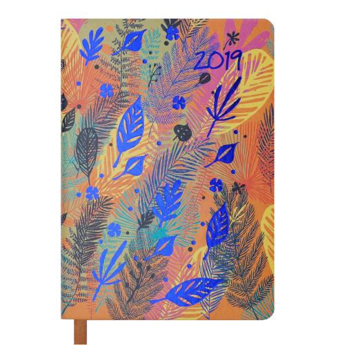Ежедневник датированный 2019 CHERIE, A6, 336 стр., оранжевый