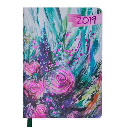 Ежедневник датированный 2019 CHERIE, A6, 336 стр., салатовый