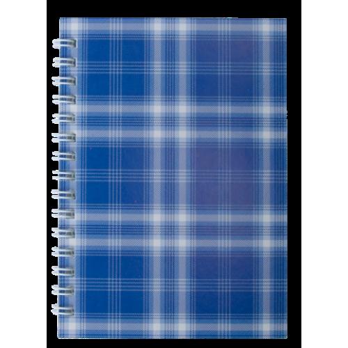 """Тетрадь на пружине сбоку, А-6, 48л., """"Shotlandka"""", синий, клетка, картонная обложка"""