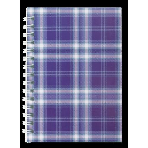 """Тетрадь на пружине сбоку, А-6, 48л., """"Shotlandka"""", фиолетовый, клетка, картонная обложка"""