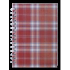 """Тетрадь на пружине сбоку, А-6, 48л., """"Shotlandka"""", бордовый, клетка, картонная обложка"""