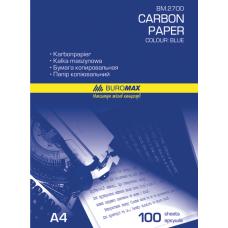 Бумага копировальная синяя BUROMAX, А4, 100 листов