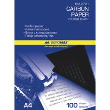 Бумага копировальная черная BUROMAX, А4, 100 листов