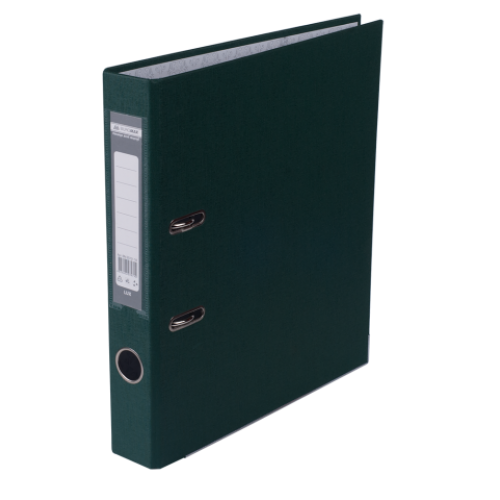 Регистратор односторонний А4 LUX, JOBMAX, ширина торца 50мм, т.-зеленый