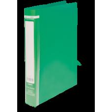 Папка на 2-х кольцах А4 JOBMAX, ширина торца 25 мм, зеленый