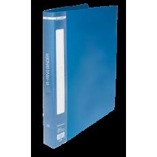 Папка на 2-х кольцах А4 BUROMAX, ширина торца 25 мм, синий