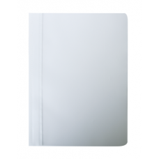 Папка скоросшиватель с прижимной планкой, 10 мм, белый