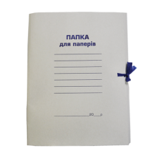 Папка на завязках картонная А4 BUROMAX, картон 0,35 мм, клееный клапан