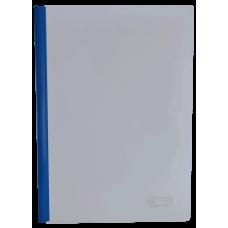 Папка скоросшиватель с прижимной планкой, 10 мм, синий