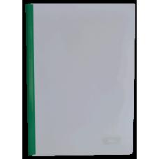 Папка скоросшиватель с прижимной планкой, 10 мм, зеленый