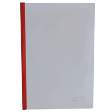 Папка скоросшиватель с прижимной планкой, 10 мм, красный