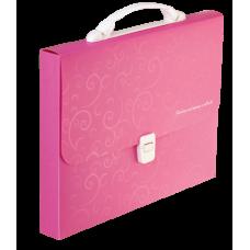 Портфель A4/35мм, BAROCCO, розовый