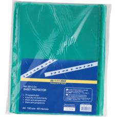 Файл для документов А4+40мкм, PROFESSIONAL, 100шт., зеленый