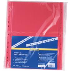 Файл для документов А4+40мкм, PROFESSIONAL, 100шт., красный
