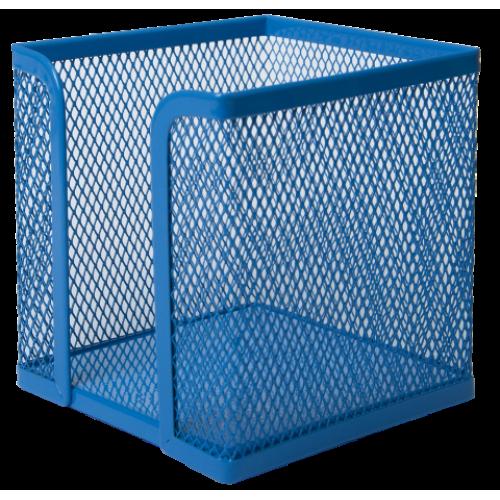 Бокс для бумаги BUROMAX, металлический, синий