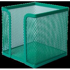 Бокс для бумаги BUROMAX, металлический, зеленый