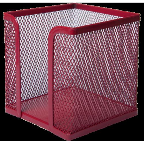 Бокс для бумаги BUROMAX, металлический, красный