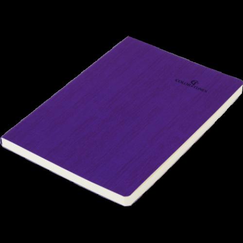 Блокнот деловой COLOR TUNES А5, 96л., чистый, обложка искусственная кожа, фиолетовый