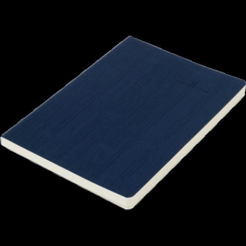Блокнот деловой COLOR TUNES А5, 96л., линия, обложка искусственная кожа, т.-синий