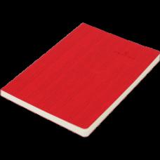 Блокнот деловой COLOR TUNES А5, 96л., линия, обложка искусственная кожа, красный