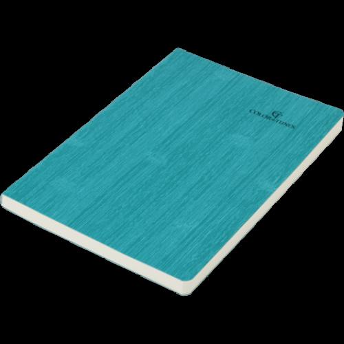 Блокнот деловой COLOR TUNES А5, 96л., чистый, обложка искусственная кожа, бирюзовый
