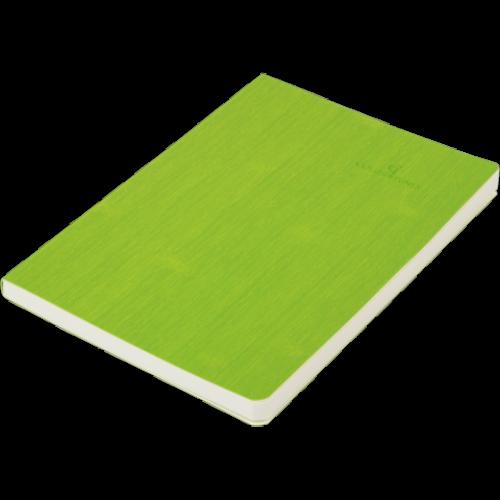 Блокнот деловой COLOR TUNES А5, 96л., чистый, обложка искусственная кожа, салатовый
