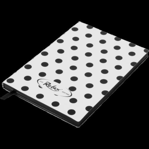 Блокнот деловой RELAX А5, 96л., чистый, обложка искусственная кожа, белый