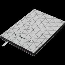Блокнот деловой RELAX А5, 96л., линия, обложка искусственная кожа, сербристый