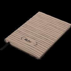 Блокнот деловой RELAX А5, 96л., линия, обложка искусственная кожа, капучино