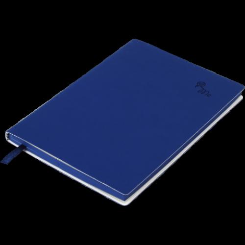 Блокнот деловой TOUCH ME А5, 96л., линия, обложка искусственная кожа, т.-синий