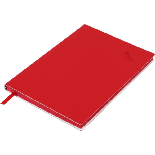 Блокнот деловой TOUCH ME А5, 96л., линия, обложка искусственная кожа, красный