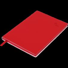Блокнот деловой TOUCH ME А5, 96л., чистый, обложка искусственная кожа, красный