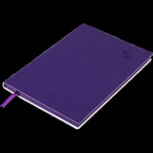 Блокнот деловой TOUCH ME А5, 96л., чистый, обложка искусственная кожа, фиолетовый