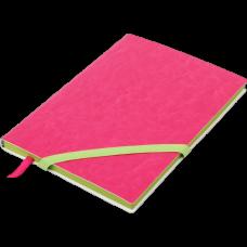 Блокнот деловой LOLLIPOP А5, 96л., чистый, обложка искусственная кожа, розовый