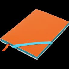 Блокнот деловой LOLLIPOP А5, 96л., чистый, обложка искусственная кожа, оранжевый