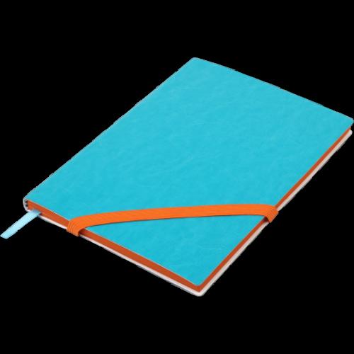 Блокнот деловой LOLLIPOP А5, 96л., чистый, обложка искусственная кожа, голубой