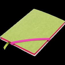 Блокнот деловой LOLLIPOP А5, 96л., линия, обложка искусственная кожа, салатовый