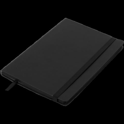 Блокнот деловой BRIEF А5, 96л., линия, обложка искусственная кожа, черный