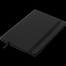 Блокнот деловой BRIEF А5, 96л., чистый, обложка искусственная кожа, черный